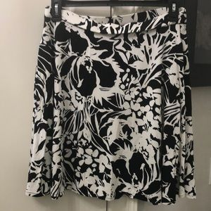 Cynthia Rowley Black/ white skirt NWOT